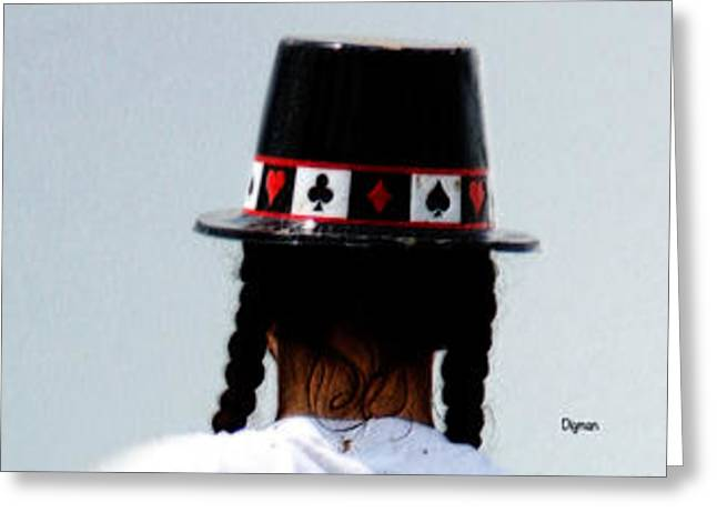 Mad Hatter Digital Art Greeting Cards - And the rabbit said...keep it all in the hat. Greeting Card by Steven  Digman