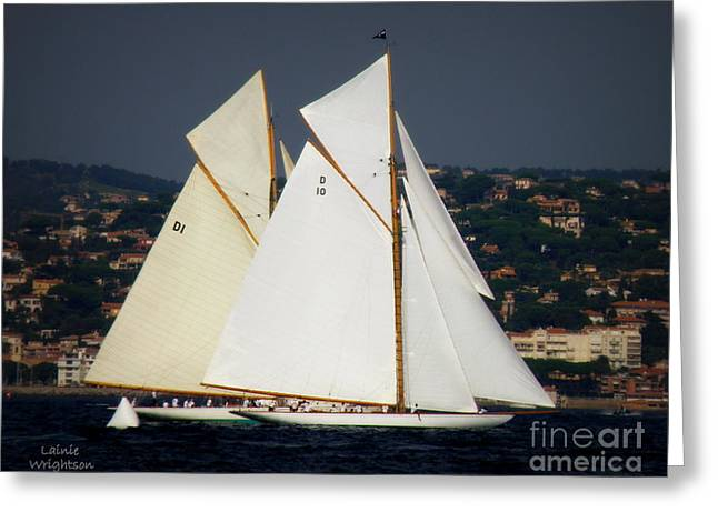 Saint-tropez Greeting Cards - And the Race Begins Greeting Card by Lainie Wrightson