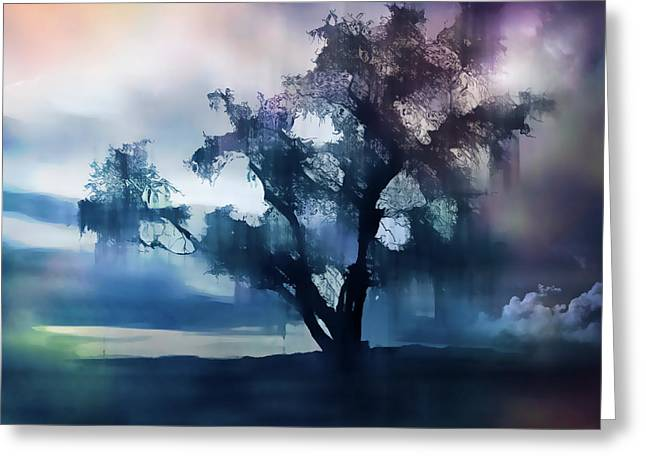 Peaceful Scene Greeting Cards - And The Rains Came Greeting Card by Barbara D Richards
