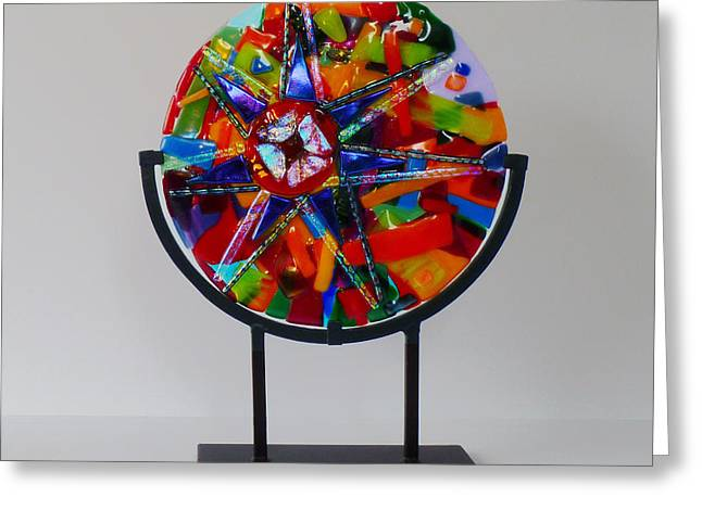 And the Wheel Goes Round and Round Greeting Card by Mark Lubich