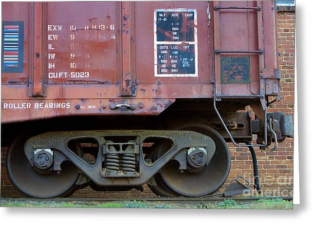 Train Rides Greeting Cards - And The Wheels Go Round Greeting Card by Skip Willits