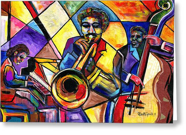 And Then There Was Da Blues Greeting Card by Everett Spruill