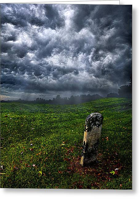 Gloom Greeting Cards - And Then There Was Gloom Greeting Card by Phil Koch
