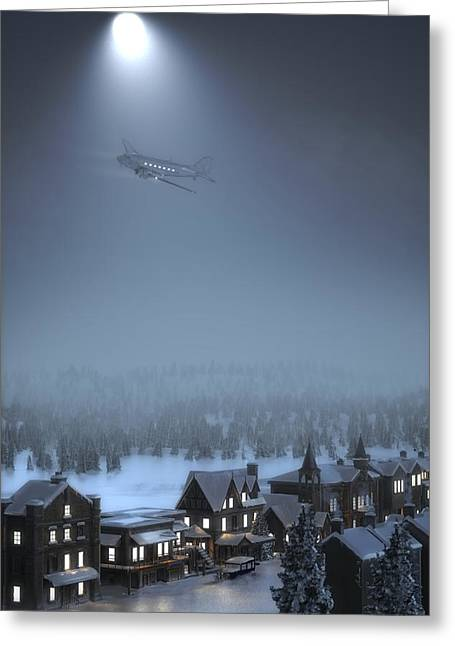 Dc-3 Greeting Cards - And to all a good night Greeting Card by Hangar B Productions