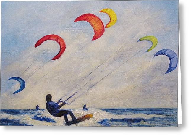 Para Surfing Greeting Cards - And Youll Take to the Skies Greeting Card by Cecelia Campbell