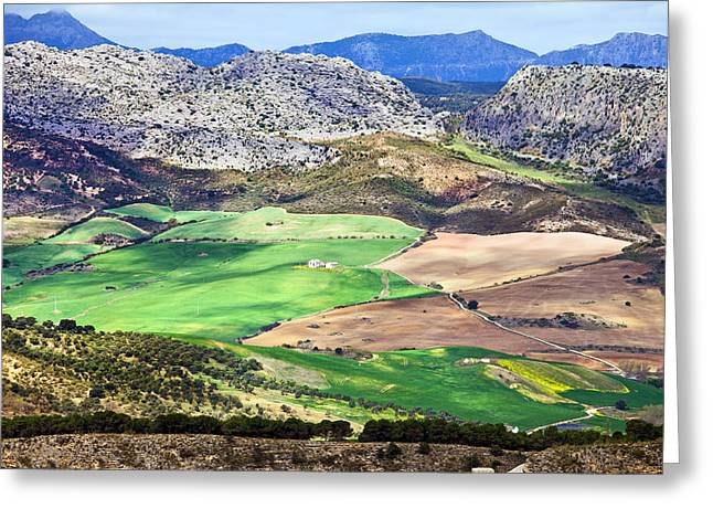 Andalucia Landscape in Spain Greeting Card by Artur Bogacki