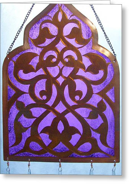 Andalucia Mixed Media Greeting Cards - Andalucian Window Passage Greeting Card by Shahna Lax