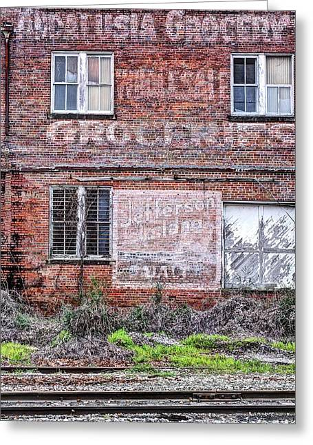 Main Street Greeting Cards - Andalusia Grocery  Greeting Card by JC Findley