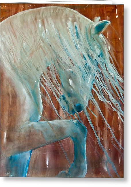 Horse Images Paintings Greeting Cards - Andalusian Stallion Greeting Card by Jani Freimann