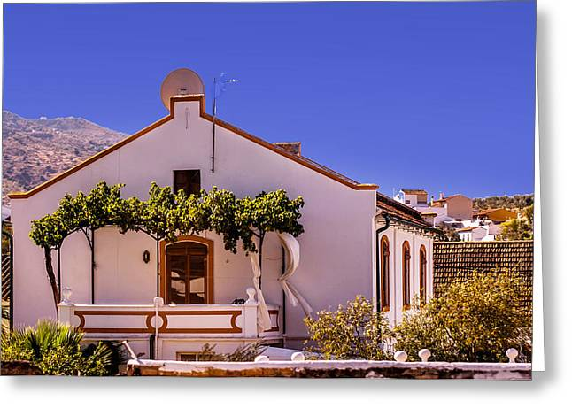 Vineyard Art Greeting Cards - Andalusian White House. Spain Greeting Card by Jenny Rainbow