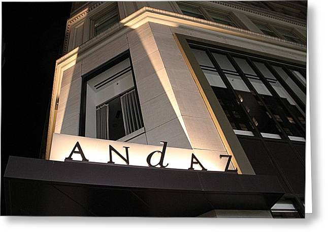 Crosswalk Greeting Cards - Andaz Greeting Card by Dan Sproul