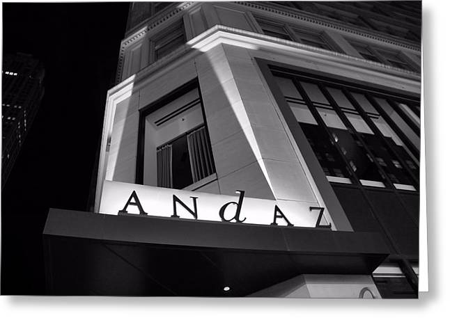Streetlight Greeting Cards - Andaz Hotel On 5th Avenue Greeting Card by Dan Sproul