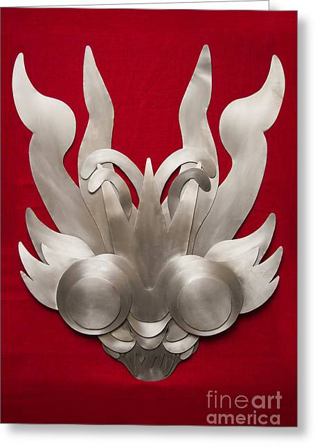 Dance Reliefs Greeting Cards - Andean Devil Mask Greeting Card by Dario Pinto