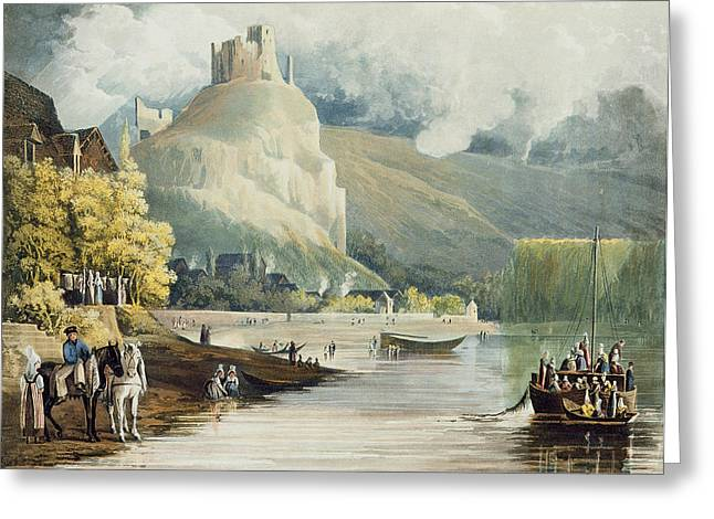 Les Drawings Greeting Cards - Andely, From Views On The Seine Greeting Card by John Gendall