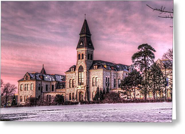Wildcats Greeting Cards - Anderson Hall Greeting Card by Corey Cassaw
