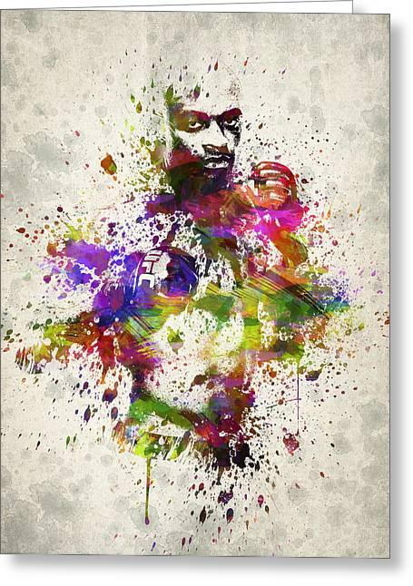 Famous Athletes Greeting Cards - Anderson Silva Greeting Card by Aged Pixel
