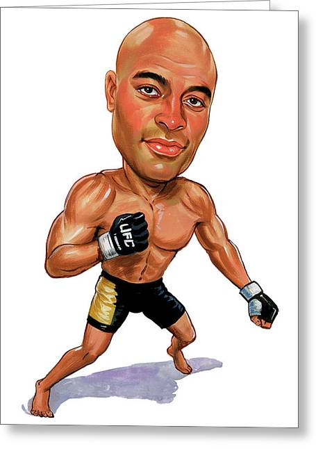 Anderson Silva Greeting Card by Art