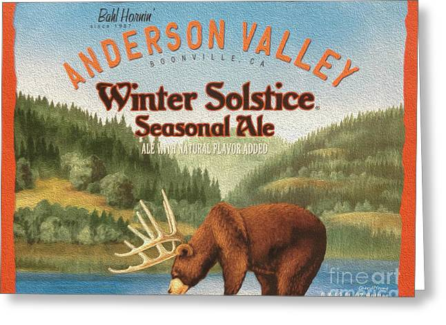 Winter Solstice Greeting Cards - Anderson Valley Greeting Card by Cheryl Young