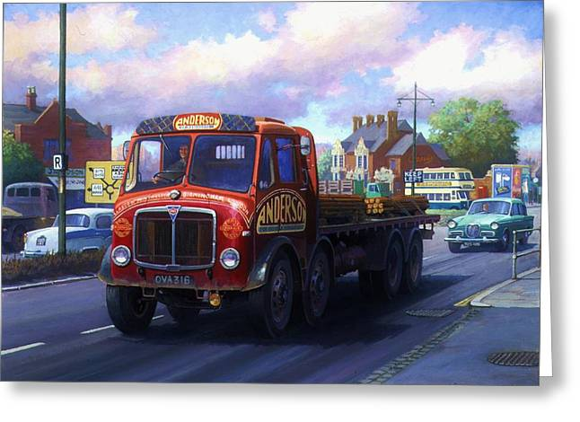 Lorries Greeting Cards - Andersons of Newhouse. Greeting Card by Mike  Jeffries