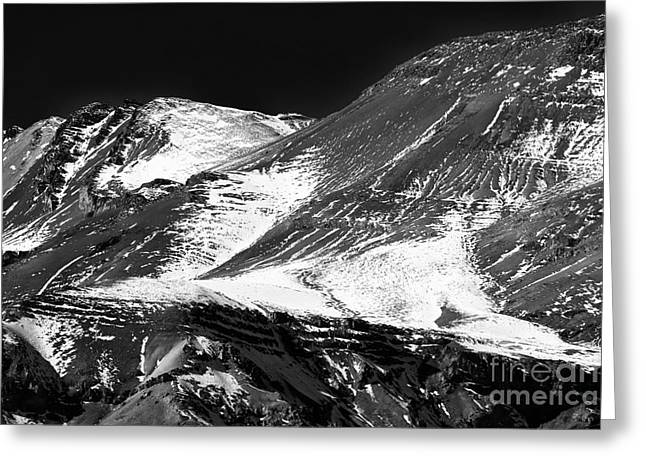 Andes Curves Greeting Card by John Rizzuto