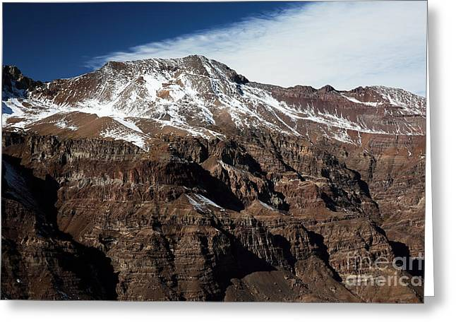 Skiing Poster Greeting Cards - Andes Majesty Greeting Card by John Rizzuto