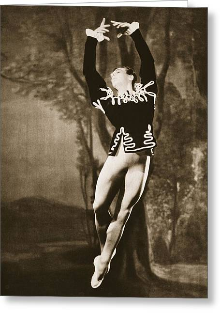 40s Paintings Greeting Cards - Andre Eglevsky In Swan Lake, From Grand Greeting Card by French Photographer