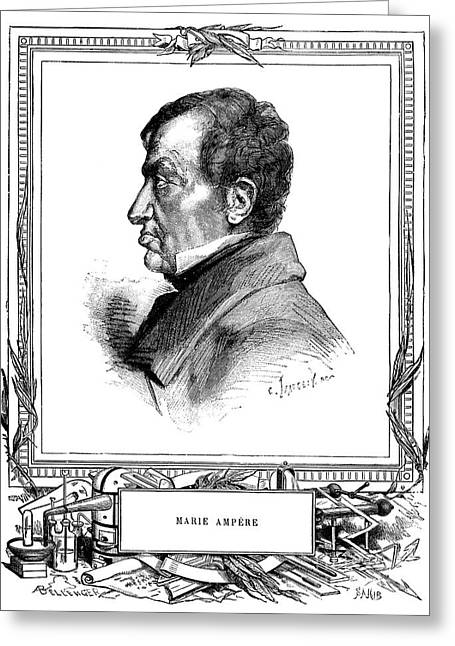 Amperes Greeting Cards - Andre-marie Ampere, French Physicist Greeting Card by Spl