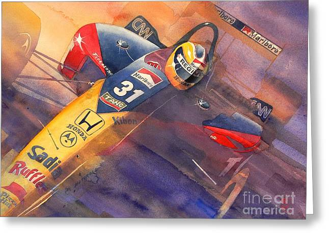 Indy Car Greeting Cards - Andre Greeting Card by Robert Hooper