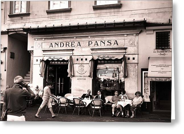 Store Fronts Greeting Cards - Andrea Pansa Greeting Card by Jenifer Madsen