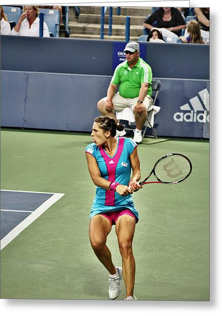 Wta Greeting Cards - Andrea Petkovic Greeting Card by Rexford L Powell