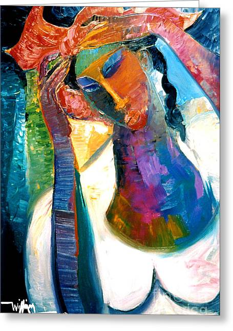 Recently Sold -  - African-american Greeting Cards - Andrea Greeting Card by William Tolliver