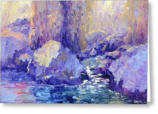 Terry Chacon Greeting Cards - Andreas Canyon Greeting Card by Terry  Chacon