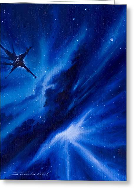Stellar Paintings Greeting Cards - Andreas Nebula Greeting Card by James Christopher Hill