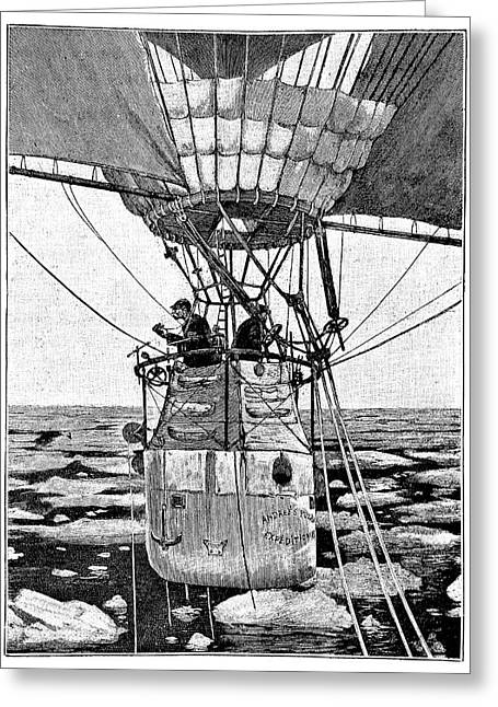 Andree's Arctic Balloon Expedition Greeting Card by Science Photo Library