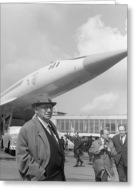 Andrei Tupolev Greeting Cards - Andrei Tupolev, Soviet aircraft designer Greeting Card by Science Photo Library
