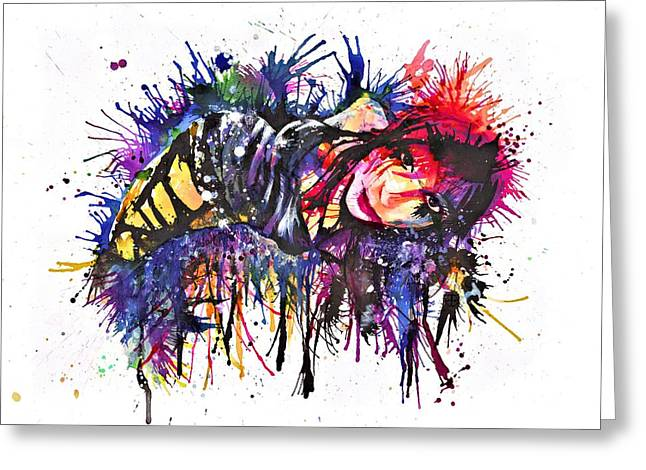 Punky Greeting Cards - Andreja in Inks Greeting Card by Frank Franklin