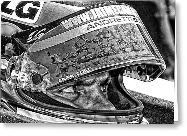 Andretti Greeting Cards - Andretti Greeting Card by Kevin Cable