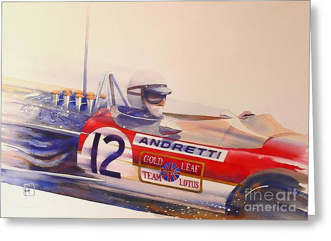 Andretti Greeting Cards - Andretti Greeting Card by Robert Hooper