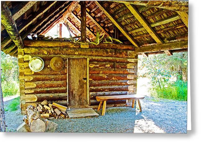 Andrew Berg's Homestead Cabin At Kenai National Wildlife Refuge In Soldotna-alaska Greeting Card by Ruth Hager