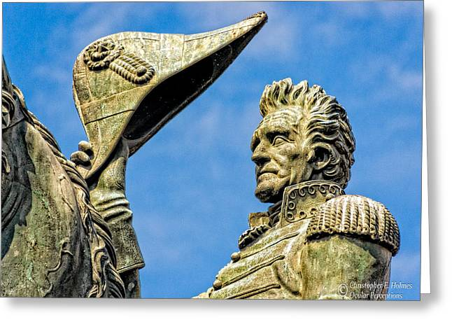 Andrew Jackson  Greeting Card by Christopher Holmes