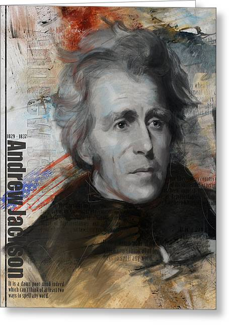 Sully Greeting Cards - Andrew Jackson Greeting Card by Corporate Art Task Force