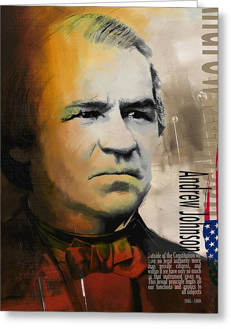 William Henry Harrison Greeting Cards - Andrew Johnson Greeting Card by Corporate Art Task Force
