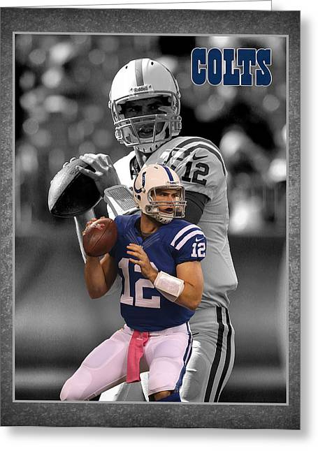 Andrews Greeting Cards - Andrew Luck Colts Greeting Card by Joe Hamilton