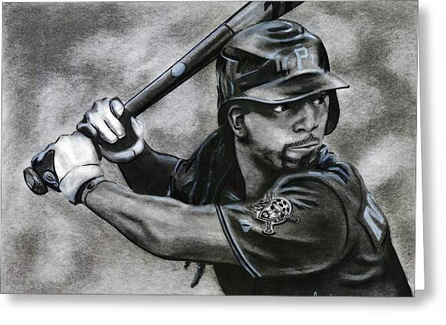 Pittsburgh Pirates Drawings Greeting Cards - Andrew McCutchen Greeting Card by Adam Acosta