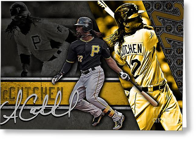 Andrew Mccutchen Greeting Card by Marvin Blaine