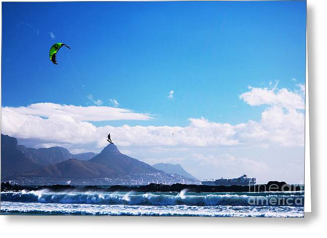 Kite Surfing Greeting Cards - Andries - RedBull King of the Air Cape Town  Greeting Card by Charl Bruwer