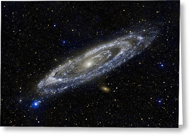 Science Greeting Cards - Andromeda Greeting Card by Adam Romanowicz