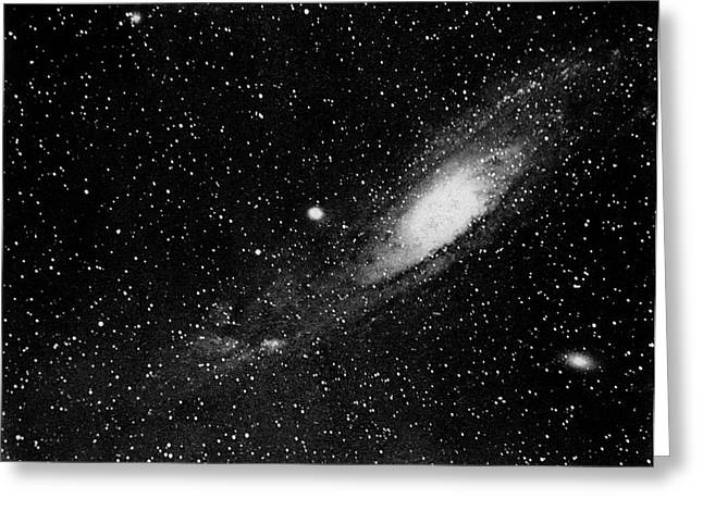 Andromeda Galaxy Greeting Cards - Andromeda Galaxy, 19th century Greeting Card by Science Photo Library