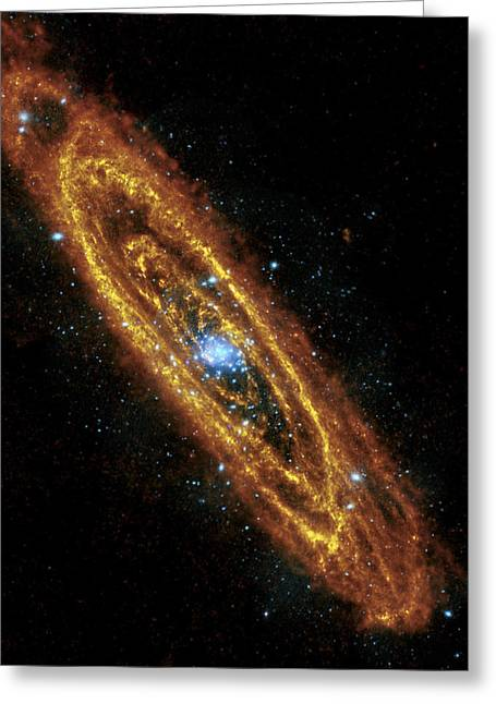 Colorful Photos Greeting Cards - Andromeda Galaxy Greeting Card by Adam Romanowicz