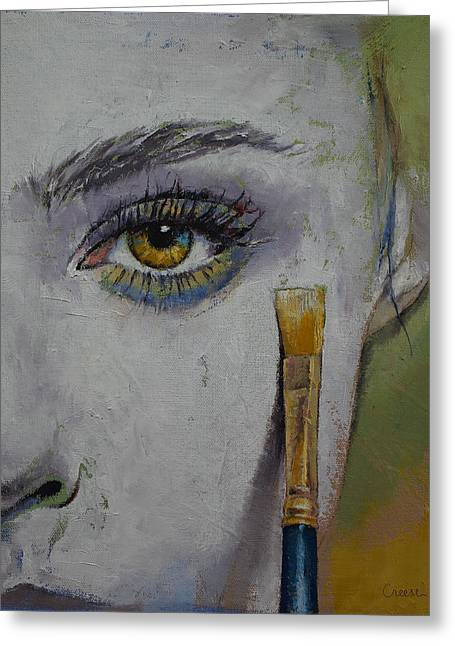 Anime Greeting Cards - Andromeda Greeting Card by Michael Creese